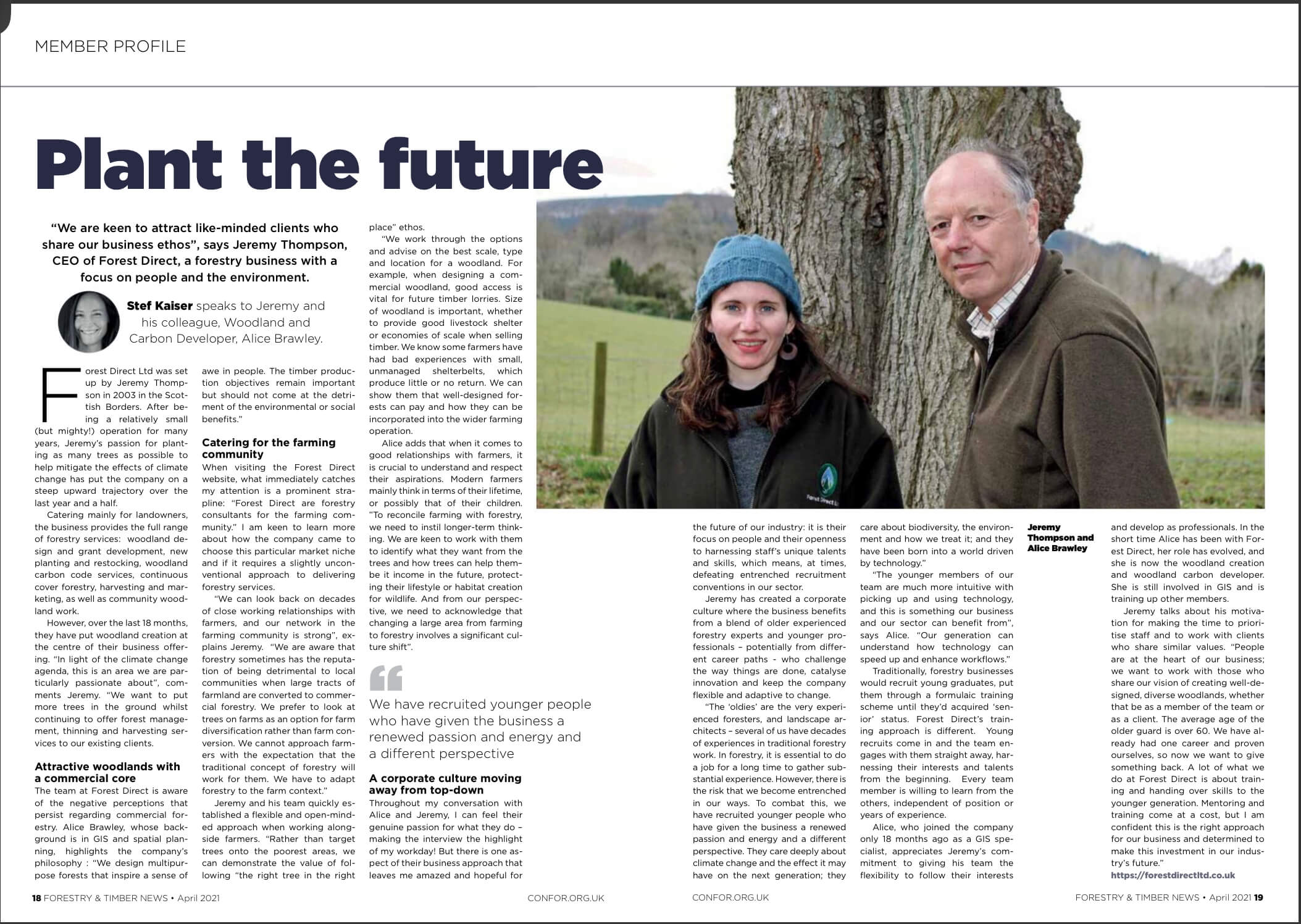 Plant The Future   Forestry and Timber News April 2021